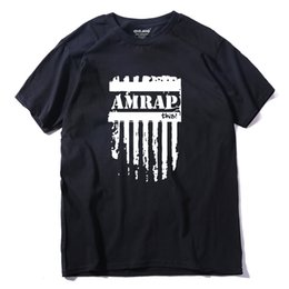 Wholesale Trendy Tee Shirts - Trendy Fashion Amrap T Shirts Men This Crossfit Man t shirt Casual O Neck Mens Tops Short Sleeve Tees