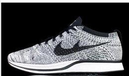 Wholesale Men S Sneakers Running Shoes - High Quality Flywire Knit Racer dad Men s Womens Running Shoes oreo 2.0 Jogging Sneakers Black White Multicolor Kids Athletic Shoes