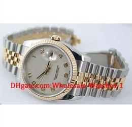 Wholesale Jubilee Wrist Watches - New arrive Luxury watches free gift box Wrist watch Mens 18kt Gold SS 36mm White Arabic Jubilee 116233