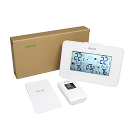 Wholesale Digital Wireless Weather Station - White Baldr Weather Station Clock Indoor Outdoor Temperature Humidity Display Wireless Weather Forecast Alarm Snooze Blue Backlight