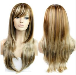 """Wholesale Wig Blond Cosplay - Synthetic Wigs 26"""" Long Blond Wig 280g Natural Heat Resistant Wavy Synthetic Wigs for Black Women Cosplay Blonde Wigs"""
