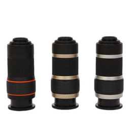 Wholesale Optical Zoom Mobile - Zoom Lens 2017 8X Magnification Telescopic Single Cylinder Mini Telescope Optical HD Zoom Lens for Mobile Phone with retail package DHL