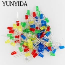 Wholesale 5mm Led Kit - Wholesale- 100pcs 5mm LED Light Assorted Kit DIY LEDs Set White Yellow Red Green Blue 5kinds X 20pcs