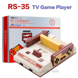 Wholesale Brand Video Games - RS-35 Brand New FC Red White Classic Family Game console Video Game Console TV Game machine Yellow Card Plug-in Card Games