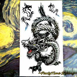 Wholesale Tattoo Sticker Body Dragon - Wholesale-25 style Temporary Tattoo Body Art, Eastern Dragon Designs, Flash Tattoo Sticker Keep 3-5 days Waterproof 17*10cm