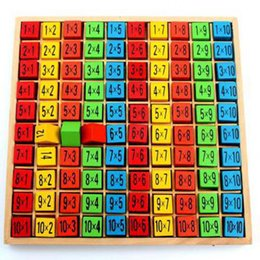Wholesale Free Math Puzzles - Wholesale- Wooden Multiplication Table Math 10*10 Jigsaw Puzzle Toys For Children Educational Early LearningToys Free Shipping