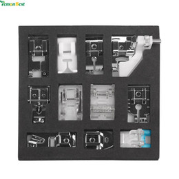 Wholesale Multifunction Mini Sewing Machines - 11pcs Mini Multifunction Presser Foot Spare Parts Accessories Presser Foot Set For Sewing Machine Brother Singer