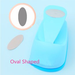 Wholesale Paper Punchers - Wholesale- Free Shipping big oval shaped save power paper eva craft punch Scrapbook Handmade punchers DIY hole punches ellipse puncher