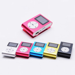 mini metal mp3 player Promo Codes - Superior Mini USB Metal Clip MP3 Player LCD Screen Support 16GB Micro SD TF Card Slot Digital mp3 music player