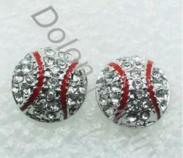 Wholesale Cup Hot Pair - 20 pairs hot sale drop shipping Dime Size Baseball Earring Stud Base Ball Fans Sports Jewelry 2014 World Cup diy handmade jewelry
