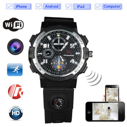 Wholesale Hidden Spy Watch Cameras - 32GB memory watch Hidden Spy Camera Wifi watch Home Security Camera System Wireless Motion Activated Detection on Smartphone Remote PQ268D