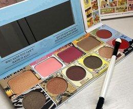 Wholesale Eyeshadow Blush Lip Gloss - Newest 11 Color Lip Gloss Blush Eyeshadow Pallete Makeup Cosmetics 11 Colors Eye shadow+lip gloss+Blush makeup set dhl free shipping