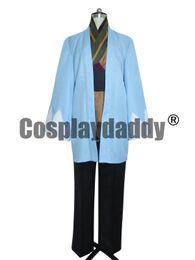 Hakuoki Hakuouki Shinsengumi Kitan Cosplay Souji Okita Blue Cape Costume 571ecffbd518