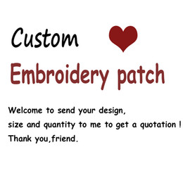 Wholesale Wholesale Embroidered - Top Quality Custom Patch DIY All Kind Of Iron On Patches For Clothes Stickers Custom Embroidered Cute Patches Applique