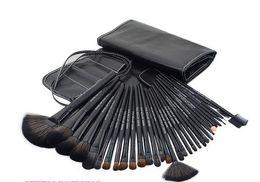 Sistema de cepillo profesional del maquillaje de 32 pc online-Professional 32 PCS Cosmetic Facial Make Up Brush Kit Conjunto de herramientas de cepillos de lana con estuche de cuero negro