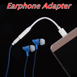 Wholesale Earphone Audio Headset Adapter - 3.5mm Earphone Headphone Adapter Audio Jack Charger Cable Type c Headset Connector Cord For Samsung Galaxy For Android phone