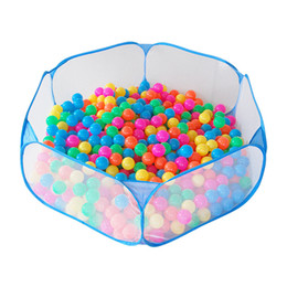 Wholesale tent pool ball pit - 120cm Indoor Outdoor Baby Playpen Portable Safety Net Ocean Pit Ball Pool Baby Kids House Play Toy Tent Birthday Gift