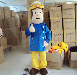 Wholesale Fireman Adult Mascot Costume - EPE New Professional Fireman Sam Mascot Costume Firefighter Cartoon Costume Christmas Party Dress Suit Free Shipping Adult size