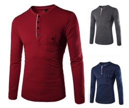 Wholesale Shirt Man Short Button - t Shirt men long sleeve t shirt baseball sport o nackbrand foshion new men t shirt