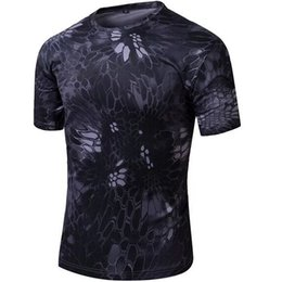 Wholesale Fbi T Shirts - Wholesale- TYPHON Short Sleeve T Shirt Combat CQB Quick Dry Tee FBI Swat Black Kryptek