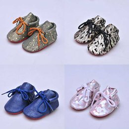 Wholesale Winter Upper - Baby Moccasins Camouflage Upper Genuine Leather High Quality Cow Leather Soft Sole Infant Shoes First Walker WJ822