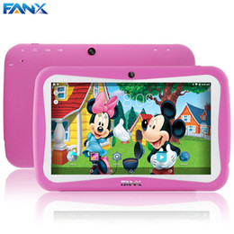 Wholesale touch sensor games - Wholesale- Free Shipping Popular Kids Gift TAB 7 inch Children Kids Games Tablet PC RK3126 Quad Core PAD Android 5.1 MID Kids Birthday Gift