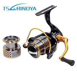 Wholesale Bait Feeder - TSURINOYA F2000 Full Metal 8+1BB Saltwater Fishing Spinning Reel Double Spool 5.2:1 Fish Carretilha Feeder Carp Spinning Reel +B