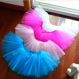 Wholesale Baby Ballet - Baby Girls Chiffon Ballet Dance Skirt Girls Tutu Skirts Kids Pettiskirt Girls Dance Costume