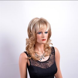 Wholesale Long Blonde Curly Cosplay Wigs - MelodySusie Cosplay Blonde Curly Wig - Gorgeous Women Long Curly Wig with Free Wig Cap and Comb (Light Blonde) Mixed hair beautiful kabell
