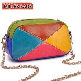 Wholesale Wholesale Purse Straps Chains - Wholesale-Fashion New 2016 Women Bag Colorful Strap Chain Purses and Handbags Crossbody Bag For Women Messenger Bags Ladies