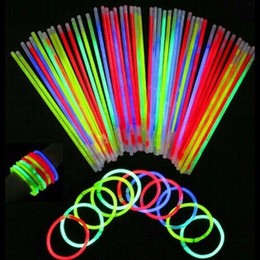 Wholesale Luminous Silicone Wristbands - Wholesale- 50pcs Glow In Dark Wristbands Armband Flash Motion Fluorescent Bracelets Safe Movement Luminous Hand Christmas Party Accessory