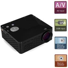 Wholesale Full Vga - Wholesale-Mini LED Projector BL-18 Portable Pico Projektor 60Lumen Full HD Proyectores AV VGA SD USB HDMI Video Proyector Beamer Projector