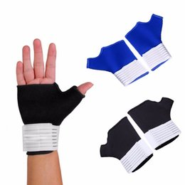 Wholesale Gloves Arthritis - Wholesale- 1 Pair Nylon Wrist Brace Support Thumb Wrap Hand Palm Splint Arthritis Relief Gloves Sleeves Sports Safety