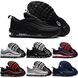 Wholesale Train Cushion - Free Shipping Air Cushion 97 KPU Casual Shoes Men Cheap Outdoor High Quality Training Plastic Men's 97S Running Shoes Size US 7-13