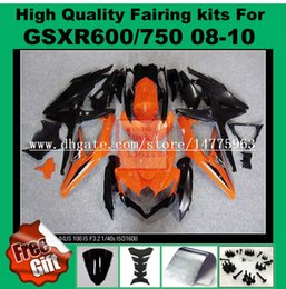 Wholesale Parts For Suzuki - 100%Fit Fairings for 2008 2009 SUZUKI K8 K9 GSXR600 GSXR750 2008 2009 2010 GSX-R600 GSX-R750 08 09 10 injection fairing parts 8colors