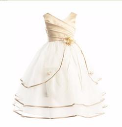 Wholesale Kids Evening Clothes - Princess Girl Dress 2017 Girls Clothes Ceremonies Party Dresses For Girls Cake Formal Long Evening Kids Party Wear Dress