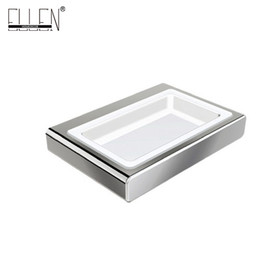 Wholesale Finished Bathrooms - Soap Dish Holder Accessories Banheiro with cermica dish Chrome Finished Bathroom Products