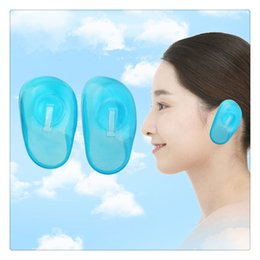 silicone free products Promo Codes - New Ear Cover Blue Clear Silicone Hair Dye Shield Protect Salon Color Product Ears New Styling Accessories Free Shipping