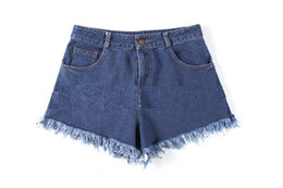Wholesale Seaside Canvas - Cowboy to high waisted shorts The seaside leisure pants all-match new spring and summer 2017 ouc317