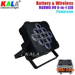 Wholesale Master Cool - Silent Cooling Fan Powercon Battery Powered Wireless DMX 9x18W RGBWA UV 6in1 LED Par Light Uplights