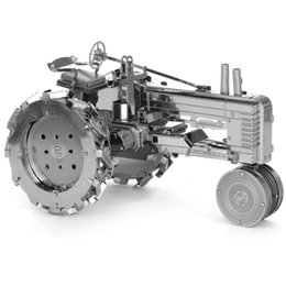 Wholesale Wholesale Toy Tractors - Wholesale-Farm Tractor Fun 3d Metal Diy Steel Scale Miniature Model Adults Hobby Creative Puzzle Toys Kits Kids Building Fantasy Hot