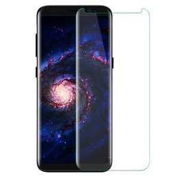 Wholesale Glass For Galaxy - Case Friendly For Samsung Galaxy S8 S8 Plus Note 8 Note8 Small Type 3D Curved Tempered Glass Screen Protector Using With Any Cases