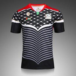 Wholesale custom rugby shorts - Quality Thai Custom 2016 2017 Palestinians Jersey Camisa Home Away Men Short Sleeve Shirt Jerseys Train Football T Shirt