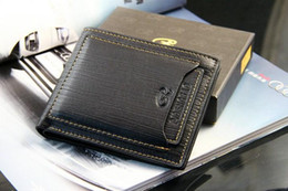 Wholesale Top Wallet Brands For Men - 2017 Top quality New style mens brand designer leather luxury purse wallet short cross high quality wallets for men free shipping