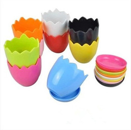 Wholesale Ceramic Stock Pots - Egg shell flower pot High quality ceramic garden flower pot Magic beans planted flower pot free shipping HY1286
