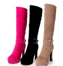 Wholesale Spike Belts - New Arrival Hot Sale Specials Influx Sweet Girl Sexy Spike Retro Super Suede Buckle Martin Sweet Matte belt Stovepipe Knee Boots EU34-43
