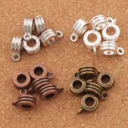 Wholesale Bronze Design - Three-wire Design Connectors Bails Beads 150pcs lot 4Colors Antique Silver Bronze Copper Fit Charm European Bracelet L731
