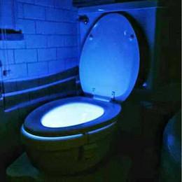 Wholesale Led Light Toilet Seat - IR induction LED Toilet Light 8 Colors toilet motion activated Bathroom Human Body Auto Motion Activated Sensor Seat Light Night free DHL