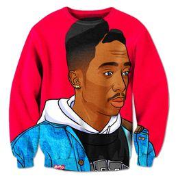 Tupac sweatshirts online-Wholesale-Alisister neue Mode Tupac Thug Life 3D Sweatshirt 2pac Hoodies für Männer / Frauen drucken lässig Grafik Hoodies Harajuku Sweatshirts