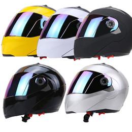 Wholesale Black Street Bikes - Full Face Motorcycle Motorbike Helmet Dual Visor Street Bike with Colorful Shield Safety Winter Racing Motos Capacete 178087614